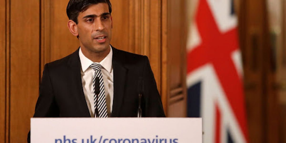 Britain's Chancellor of the Exchequer Rishi Sunak speaks at a news conference addressing the government's response to the novel coronavirus COVID-19 outbreak, inside 10 Downing Street in London on March 17, 2020 - Britain on Tuesday, March 17, ramped up its response to the escalating coronavirus outbreak after the government imposed unprecedented peacetime measures prompted by scientific advice that infections and deaths would spiral without drastic action. (Photo by Matt Dunham / POOL / AFP) (Photo by MATT DUNHAM/POOL/AFP via Getty Images)