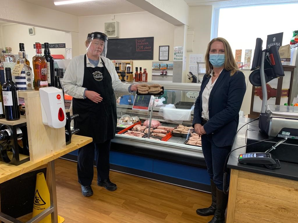 Virginia Crosbie MP and Jo Parrott owner of Anglesey Fine Foods