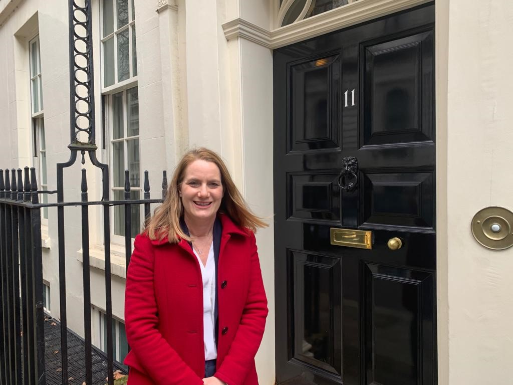 Virginia Crosbie MP at No 11 Downing Street